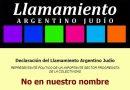 El Llamamiento Argentino Judío envió una enérgica carta a la DAIA